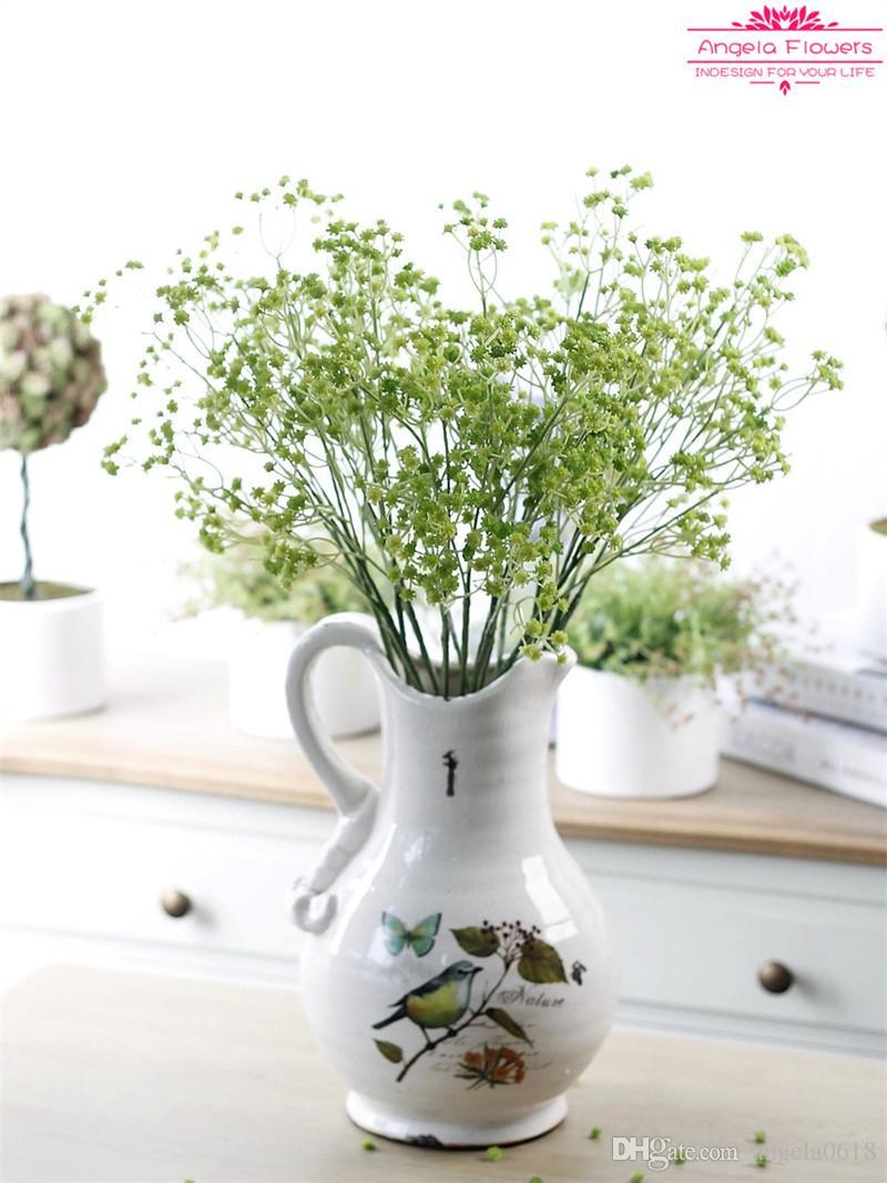 2015 искусственные Gypsophila paniculata цветы реальный вид высокое качество шелка для ручной букет свадьба украшение