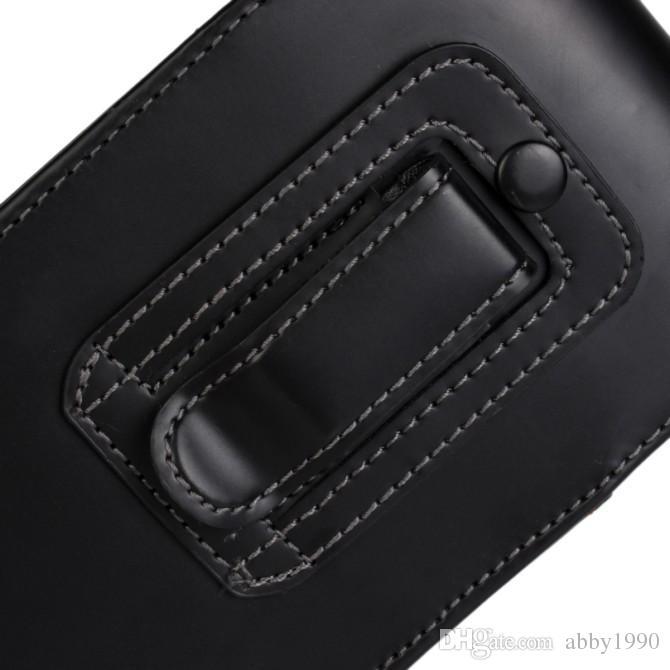 Partihandel Luxury Belt Clip Pu Läder Vertikal Flip Cover Pouch Väska till Nokia Lumia 830 Gratis frakt