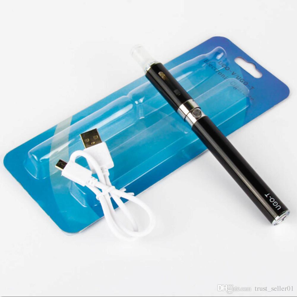 eGo UGO-T 650/900/1100mah USB Passthrough battery blister kit Electronic Cigarettes ugo T Starter kits With MT3 Vaporizer Atomizer Tank Vape