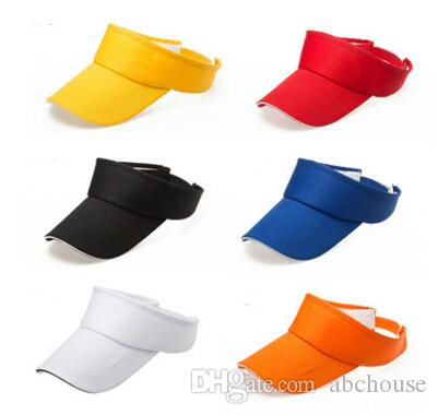 497e59e96ec6 6 Design Sun Visor Cap Adjustable Sports Tennis Golf Headband Cotton ...