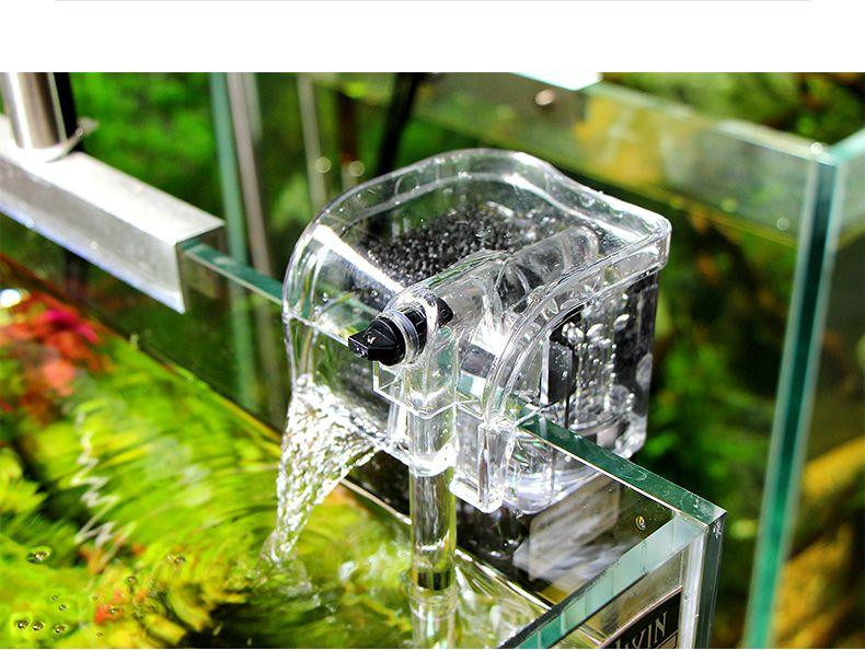 2019 external oxygen pump waterfall filter for fish turtle tank