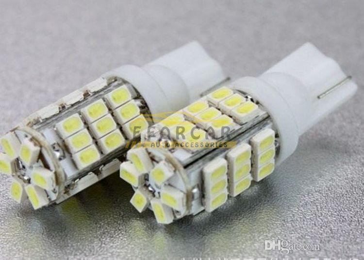 20 sztuk / partia Car Xenon White 6000K T10 921 42-SMD 1206 LED Backup Reverse Light Bulbs Darmowa Wysyłka