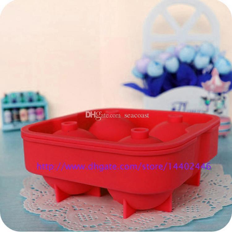 Бесплатная доставка кубик льда мяч пить вино лоток кирпич круглый чайник плесень сфера плесень вечеринку бар силикон