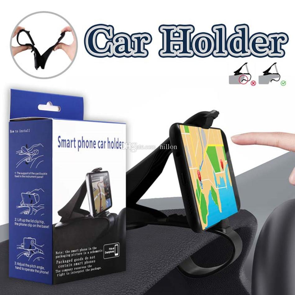 Smart Phone Car Holder Adjustable Dashboard Car Mount Simulating Design Phone Holder For Saving Driving For Cellphones with Retail Box