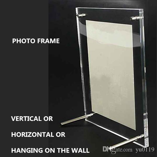 8 Inches 240x190mm Acrylic Plexiglass Photo Frame European Creative ...
