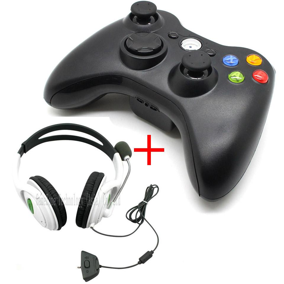 Wireless Controller Game Pad Joystick And Wired Headset With ...