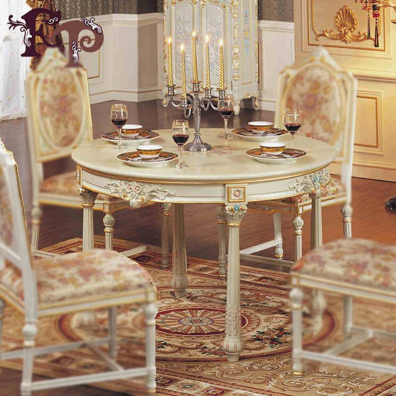 Elegant Best European Simple Wood Furniture Carved Wood Hand Painted Custom French  Country Dining Table Round Table Under $4461.31 | Dhgate.Com