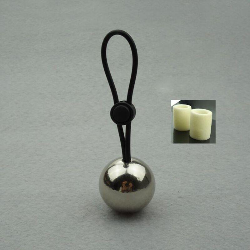 Boule en métal poids lourd cintre civière extenseur d'agrandissement du pénis anneau de sexe masculin dispositif de chasteté dispositif de sexe jouets anneau de pénis pour les hommes