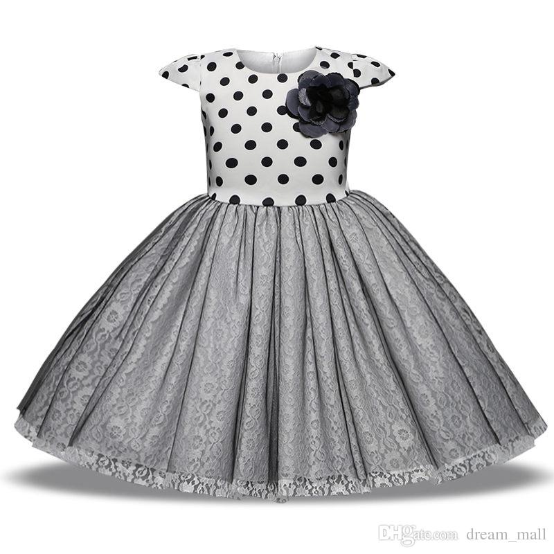 Baby Toddler Lace Girl Dress Princess Tutu Polka Dot Prom Dancer ... 2c7fb05c355b