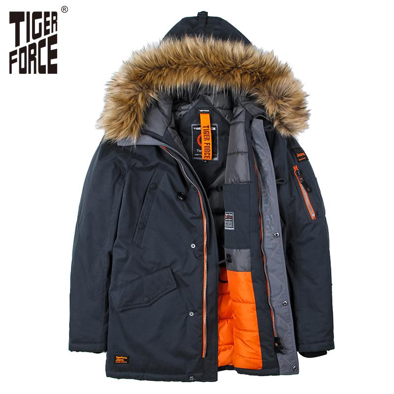f87d422bebf1 2019 Wholesale TIGER FORCE High Quality Men Padded Parka Cotton Coat Winter  Jacket Mens Winter Coat Thick Parkas Artificial Fur From Ario