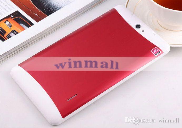 3G Dual SIM Tablet PC 8GB Quad Core 7 inch 1024*600 Screen Bluetooth GPS Android 4.4 Dual Camera Wifi Phablet