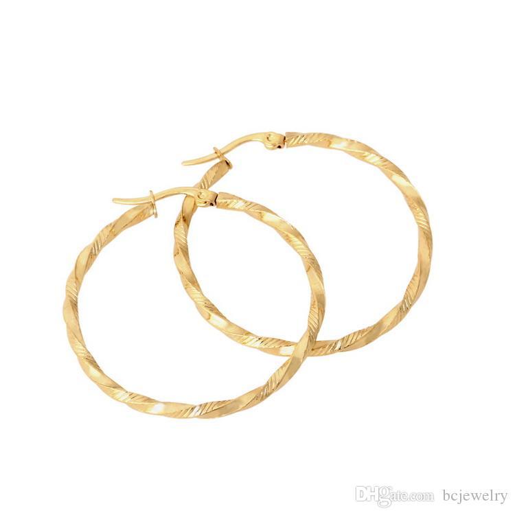 قبل الميلاد مجوهرات أنيقة النيكل الحرة الفولاذ المقاوم للصدأ أقراط حلقة أقراط المشاهير العلامة التجارية أقراط للنساء مجوهرات للنساء BC-094
