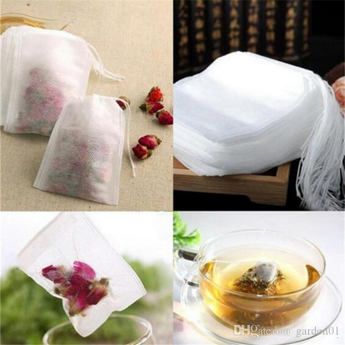 500lot Fashion Hot Empty Teabags Tea Bags String Heal Seal Filter Paper Teabag 5.5 x 7CM for Herb Loose Tea G185
