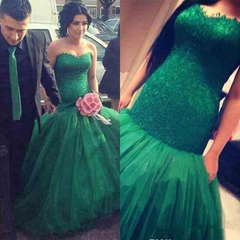 green lace wedding dress | Wedding