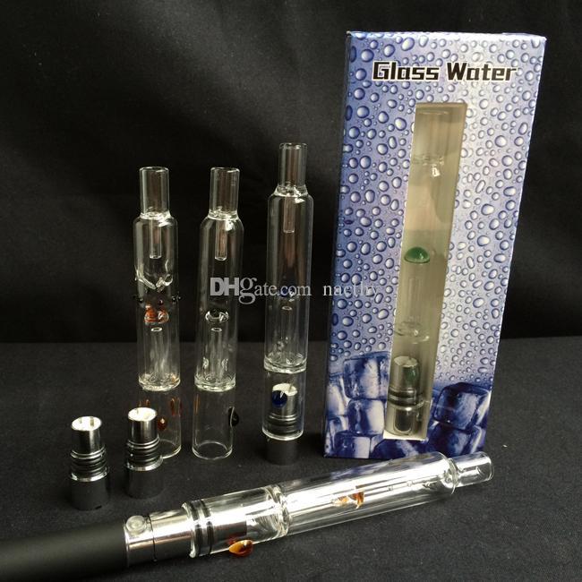 Più nuovo Pyrex Glass Water Atomizer Penna Hookah Pipe di fumo E Cig Tank Dry Herb Wax Vaporizzatore Vetro Shisha Atomizzatore EGO Evod Battery