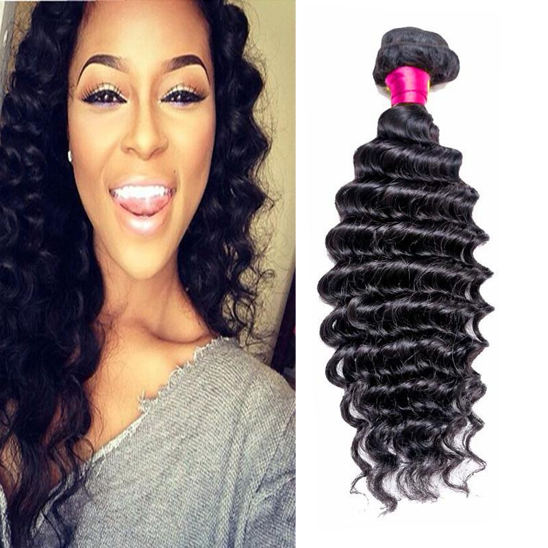 Brazilian Virgin Hair Weave Deep Curly Wavy 100 Virgin Human Hair