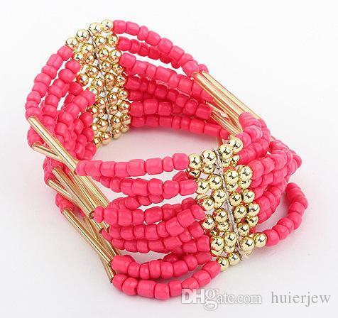 Bracelet Bracelet pour Femmes Hommes Bijoux de Mode Marguerites En Verre De MuranoCristal De Charme Bracelets Européen Convient Charme Bracelets Perlés
