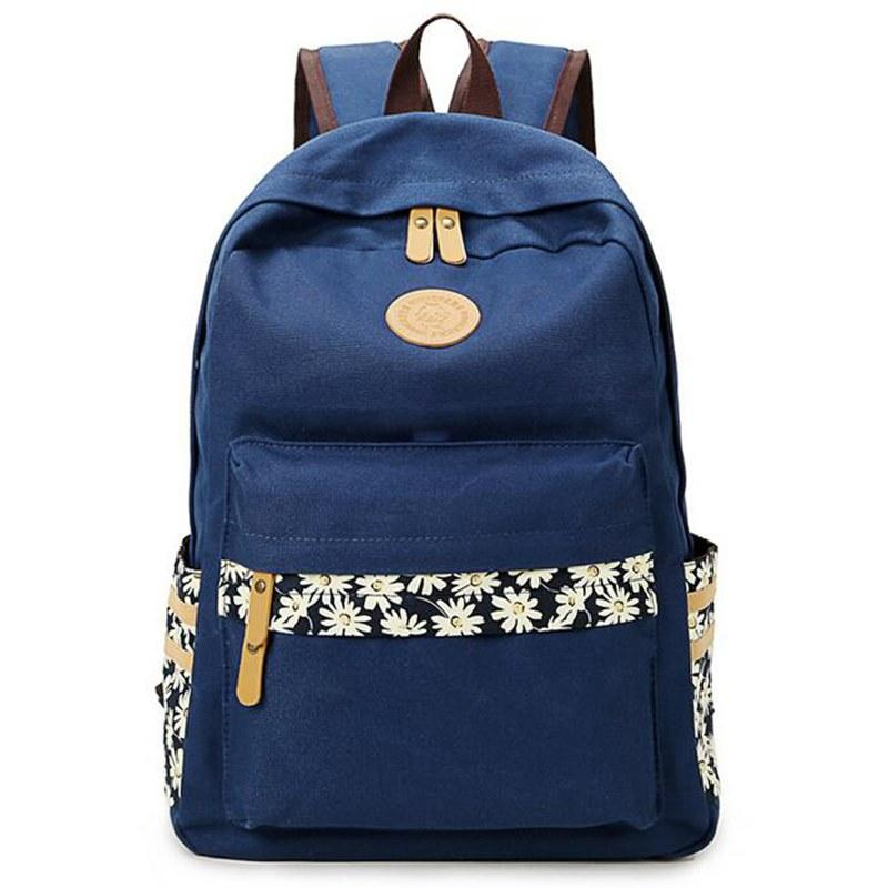 Fashion Women'S Canvas Backpack School Bag For Girl Ladies ...