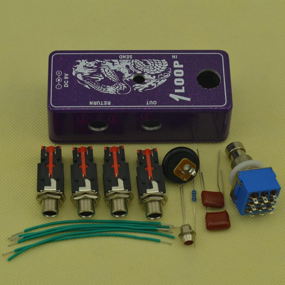 DIY True-Bypass Looper Effect Pedal Guitar Effect Pedal Looper Switch true bypass guitar pedal 1 Loop switch Flash purple Kits