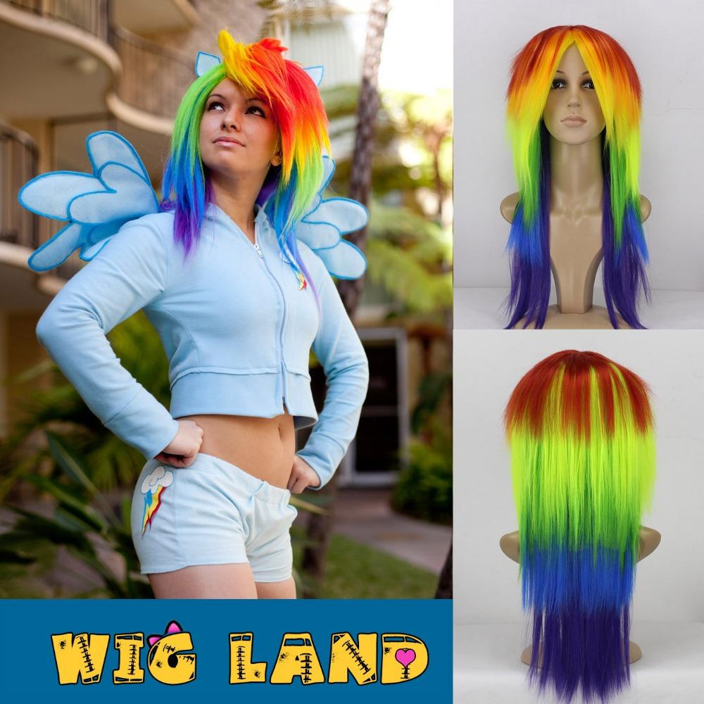 My Little Pony Cosplay Wig For Cartoon Character Rainbow Dash Costume Hair Include Ponytail Link Zelda Cosplay 80cm Wig From Wigland $18.1| Dhgate.Com  sc 1 st  DHgate.com & My Little Pony Cosplay Wig For Cartoon Character Rainbow Dash ...