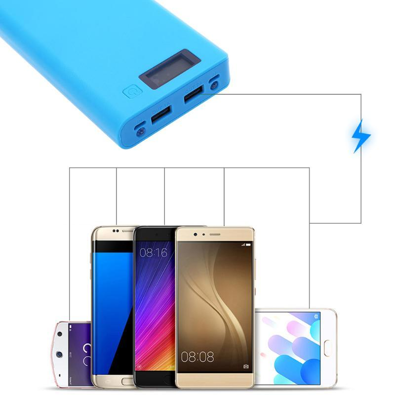 Quick Charge Power Bank Box Solderless 8x18650 Battery Dual USB Port LED Display Power Supply Power Bank Case for Smartphone MP3