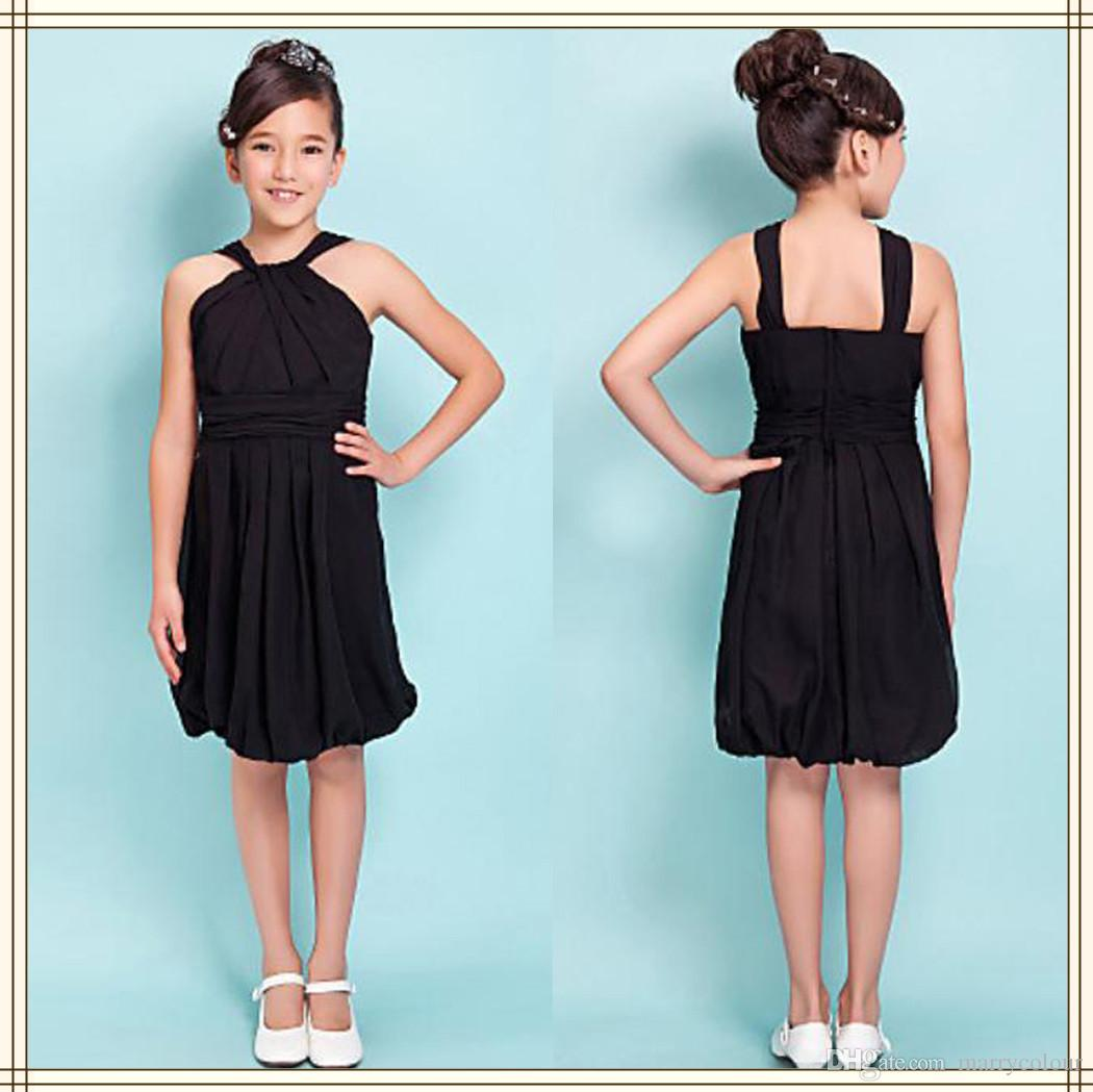 Girls Pageant Dresses Little Black Short Flower Girl Dress For ...