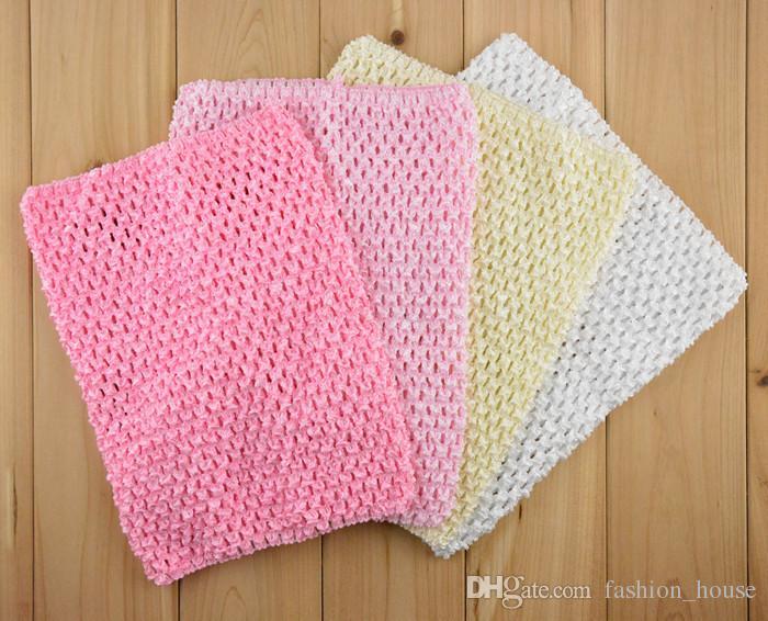2015 New 9 Inch Baby Girl Crochet Tutu Tube Tops Chest Wrap Wide Crochet headbands 20cm X 23cm
