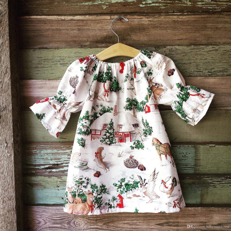 32db0dedb 2019 Christmas Dresses For Girls Boutique Baby Clothing Tree ...