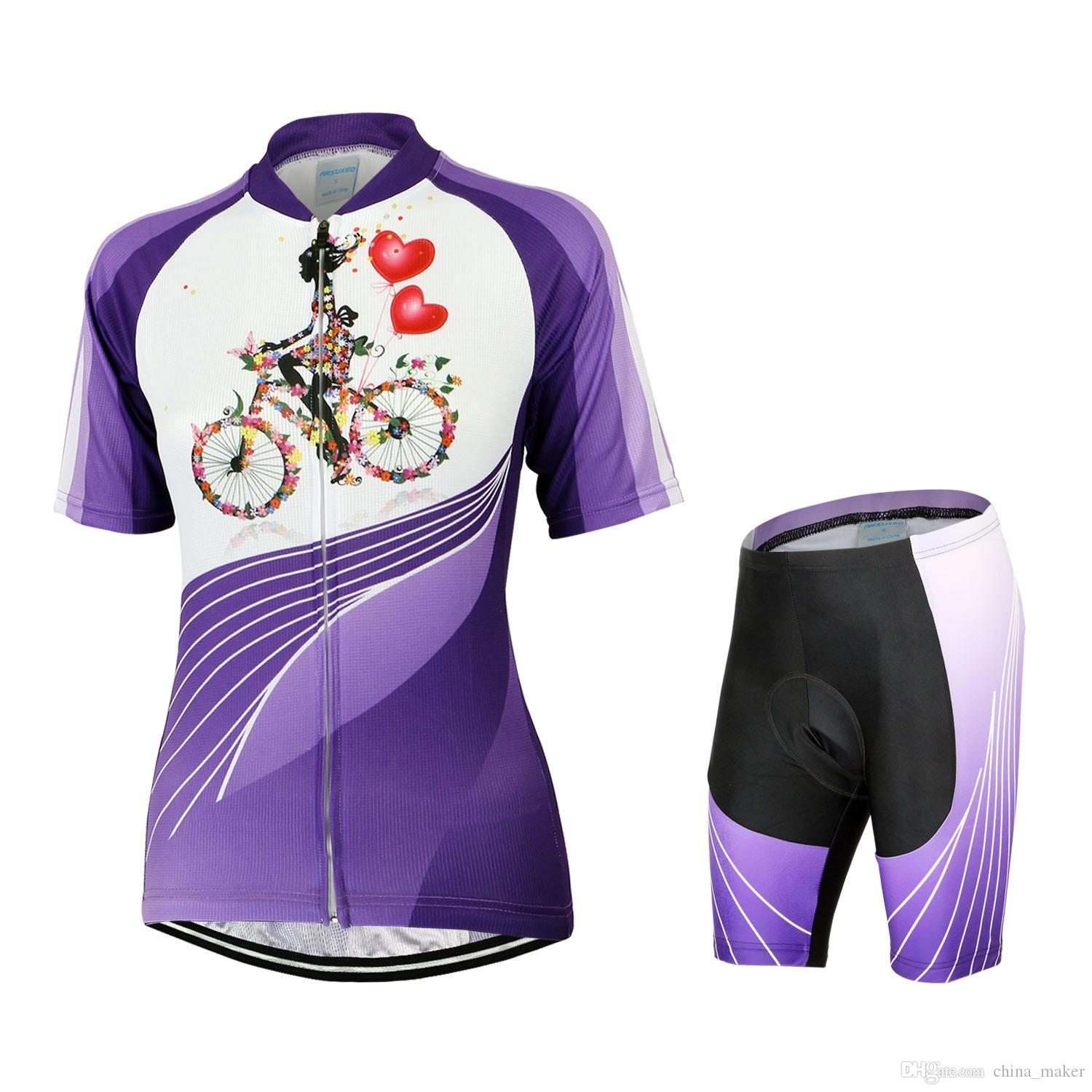 2016 new style cycling jerseys colorful design young girl women cute cycling tops and shorts. Black Bedroom Furniture Sets. Home Design Ideas