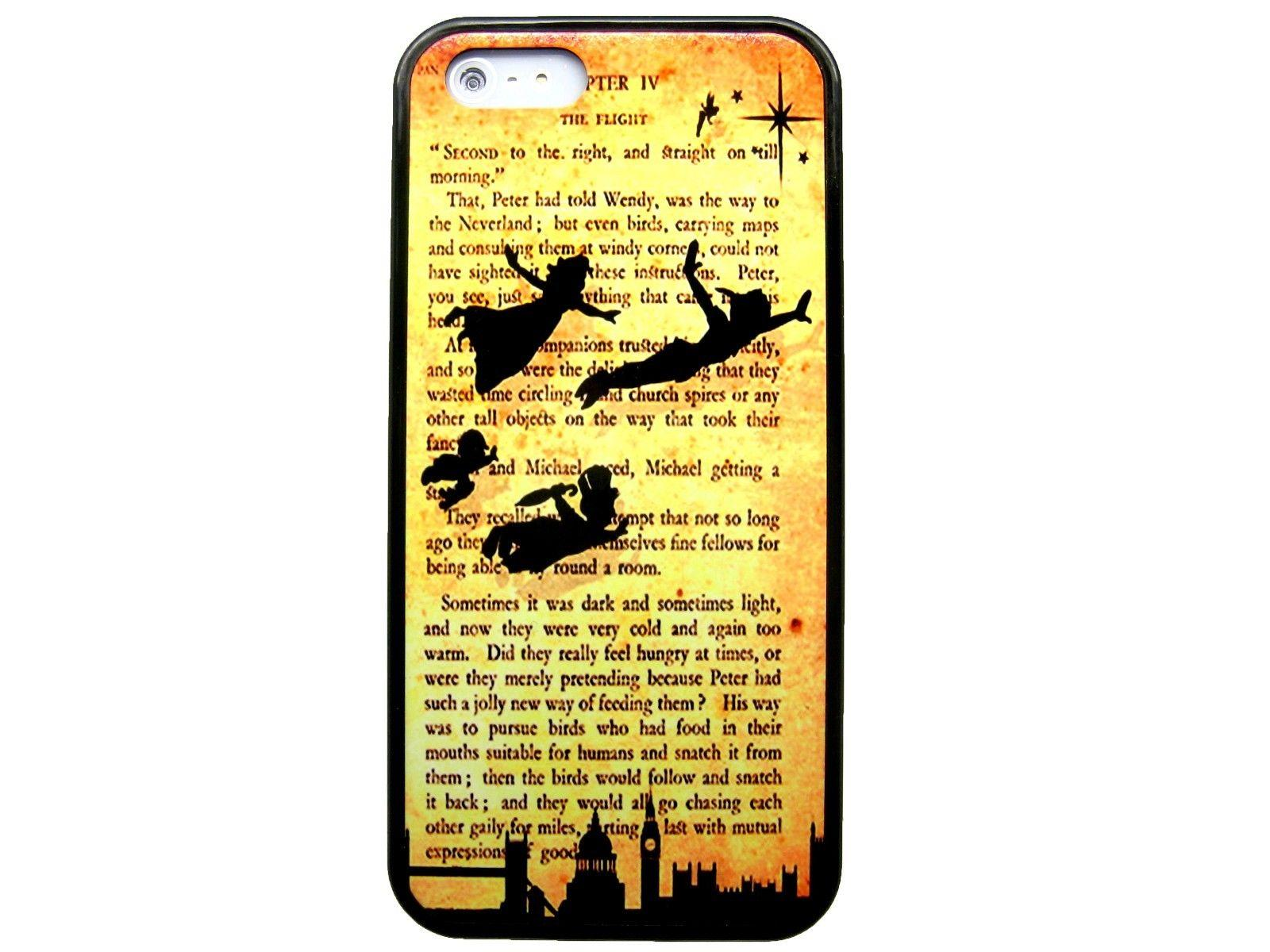 Peter Pan Tinkerbell Book Quote Customized Fashion Design For Iphone 6 Case 47 Plus 55 4 4s 5 5s 5c Back Cover Phones Jeweled Cell Phone