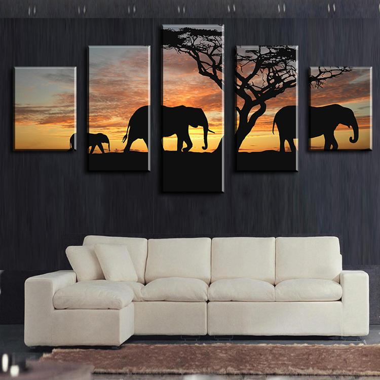 Best Elephants Walking Africa Wall Arts Modern Home Wall Decor Canvas  Picture Art Hd Print Wall Painting Canvas Arts Unframe Under $43.41 |  Dhgate.Com