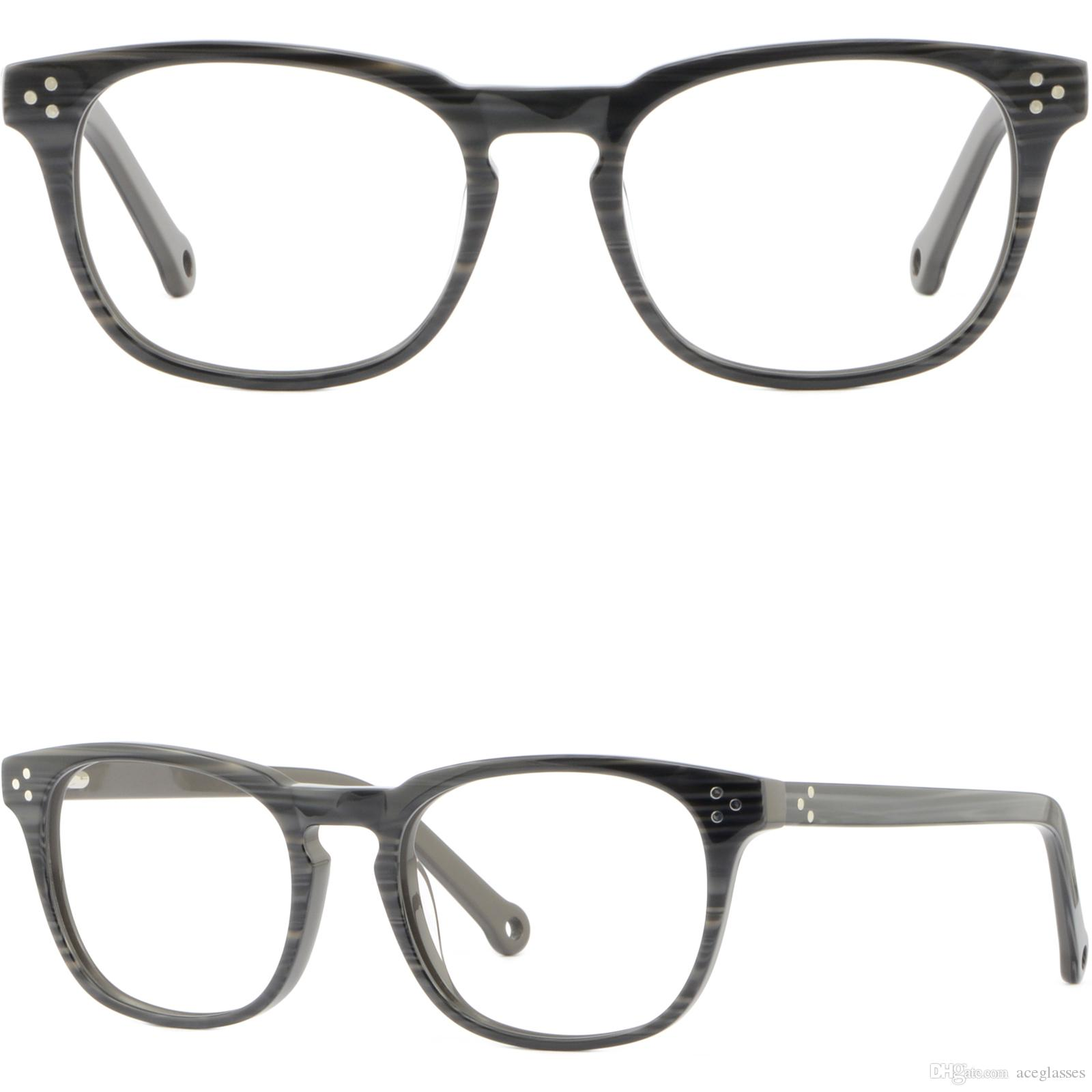 79f472567b6 Men s Women s Plastic Frames Spring Hinges Light Black Square ...
