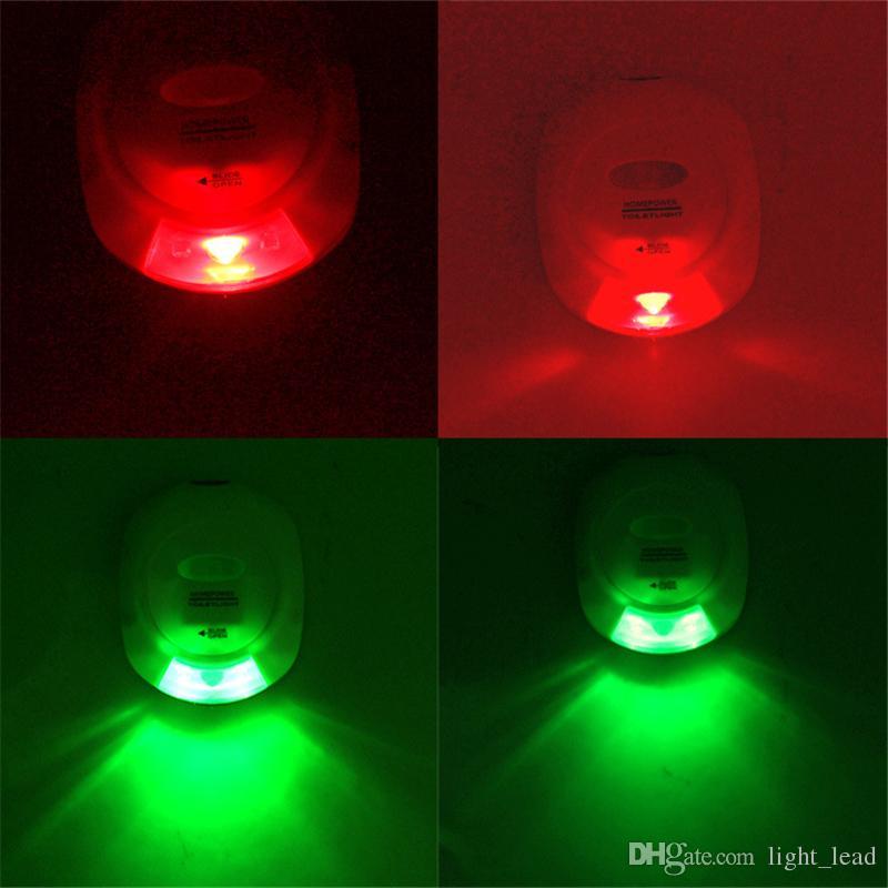 LED Sensörü Hareket Aktif Tuvalet Işık Banyo Gömme Tuvalet Lambası 3 LED Pil Kumandalı Gece Lambası