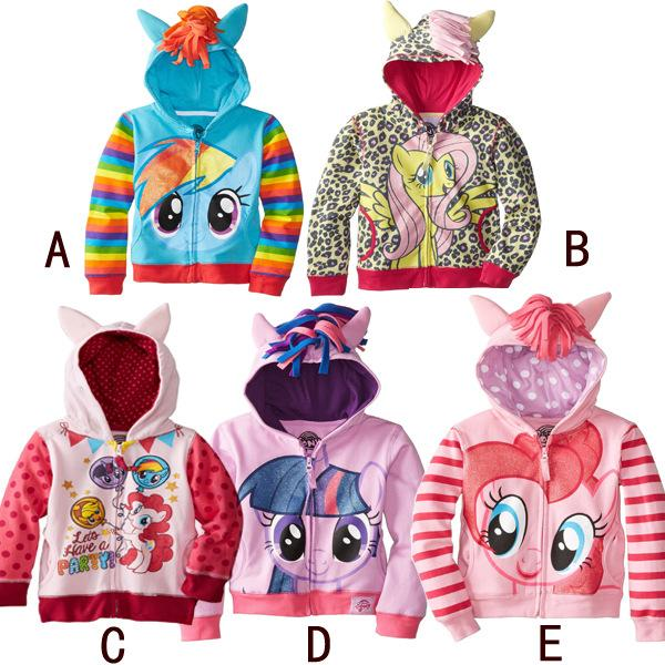 Wholesale My Little Pony Kids Hoodies 5styles Zebra Girls Fashion  Sweatshirts Children Winter Terry Warm Clothes Kids Hooded Zipper Jumpers  Girls Clothes ...