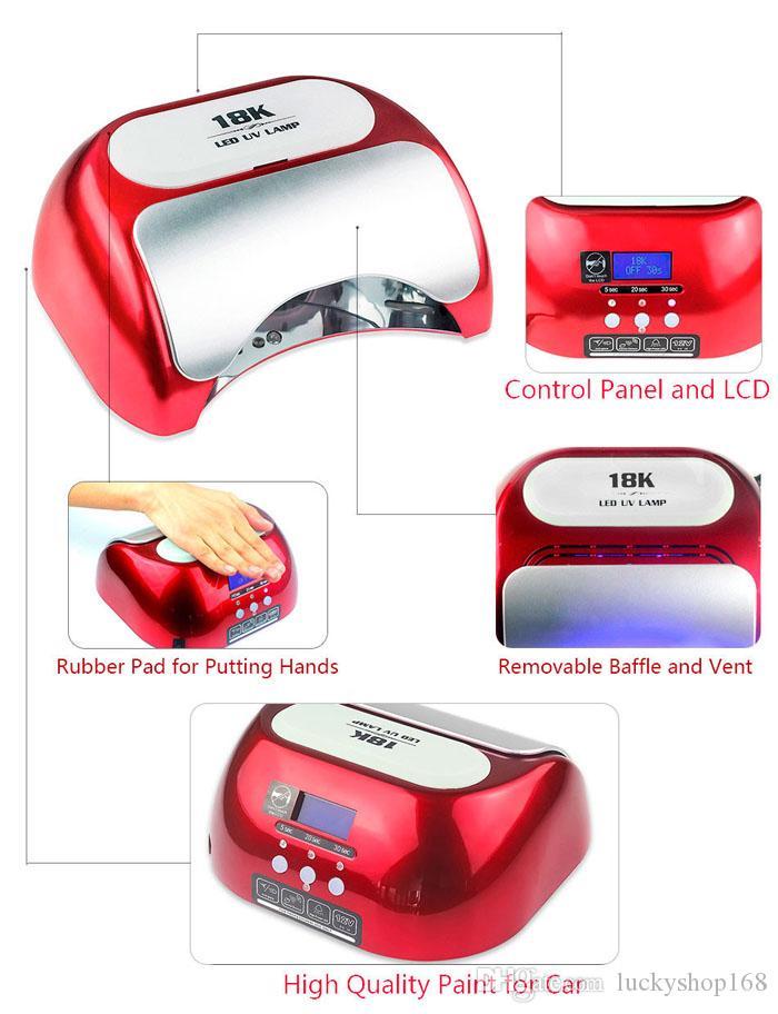 Ucuz 48 w 110 v 220 v ABD AB AU İNGILTERE Tak LED Jel Tırnak Kür UV Işık Lambası Nail Art Lehçe LED Tırnak Kurutucu Lambası Manikür için