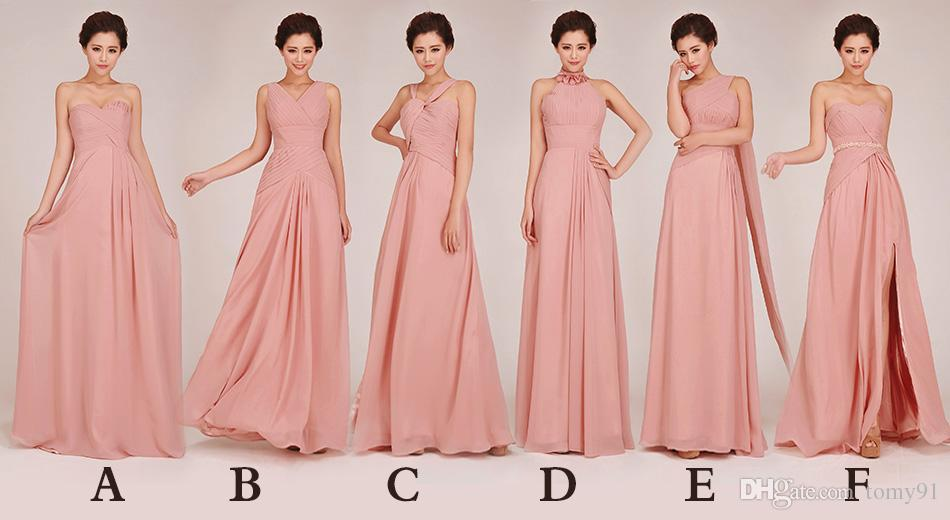 Graceful Different Type Bridesmaid Dresses A Line Fresh Color Long