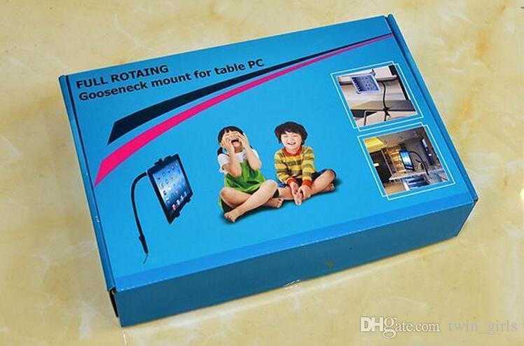 Gooseneck Flexível Braço Longo Suporte de Mesa Braçadeira de Bolso Suporte de Montagem de Montagem com 360 Graus Fácil-Ajuste Para PC Tablet Ipad