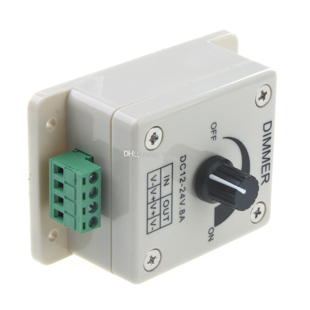 Бесплатная Доставка DC12-24V LED Dimmer Руководитель управления СИД диммер выключатель PWM 12V-24V Светодиодный диммер для светодиодной полосы света