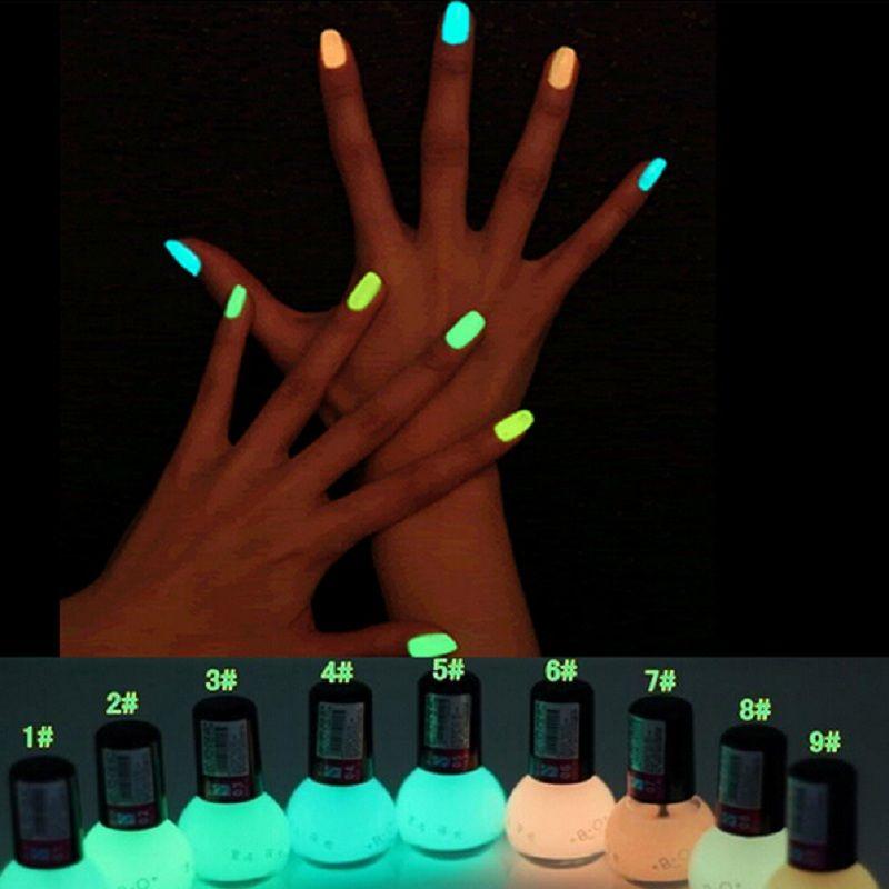 Wholesale Hot New Luminous Nail Polish 12 Candy Color Fluorescent ...