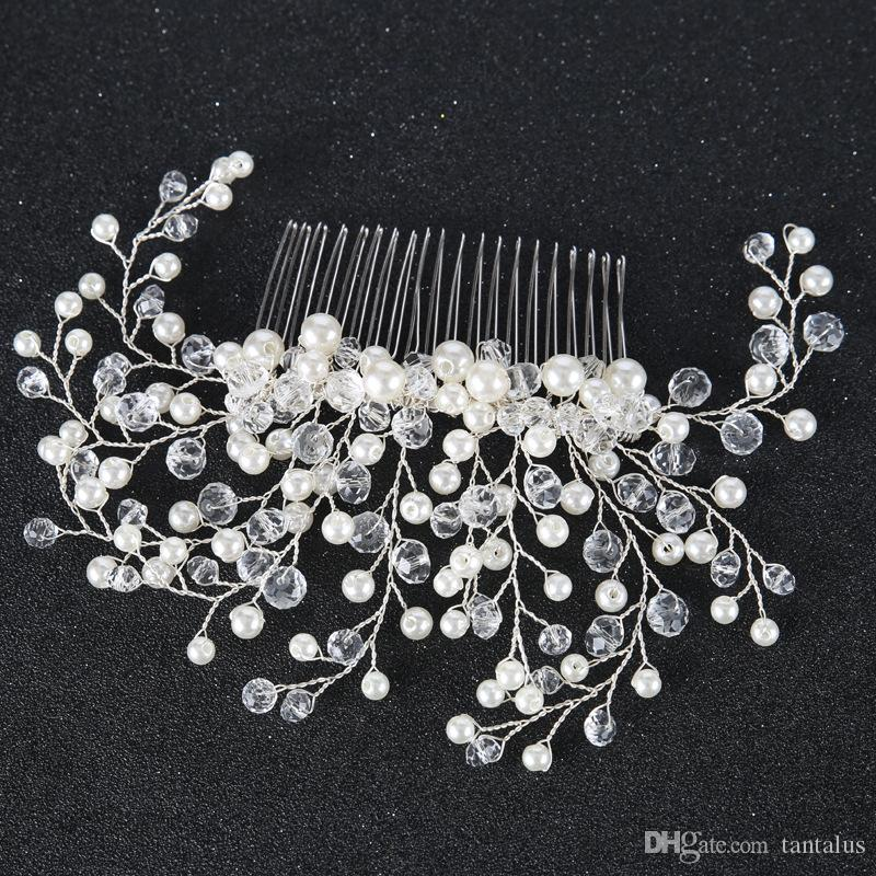 Jewelry & Accessories New Trendy Gold Leaf Bridal Hair Combs Hairpin Tiara Wedding Jewelry Women Hair Accessories Hair Jewelry Wholesale 10 Pcs Attractive Fashion Hair Jewelry