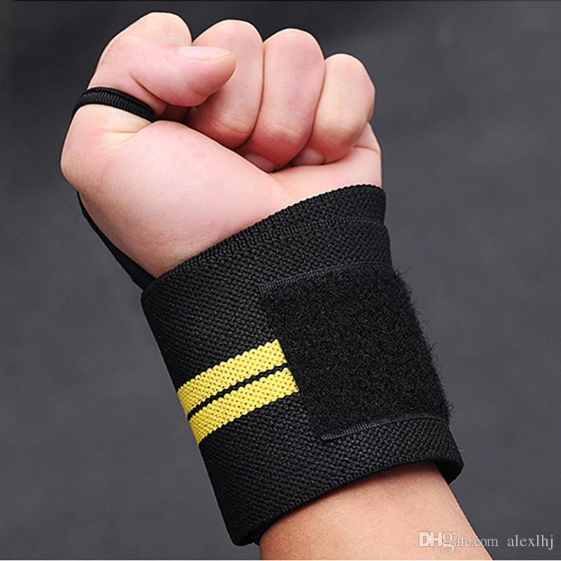 Potencia de levantamiento de pesas Elástico Heavy Duty Gym Estirable Wrist Wraps Soporte Fitness Entrenamiento Safety Hand Band