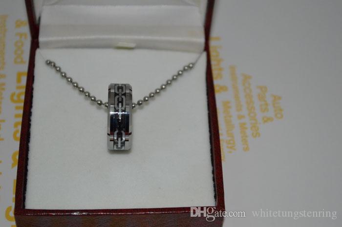 Tungstenkarbid Ringar Goldsilver Chain Inlagda Tungsten Bröllopsband