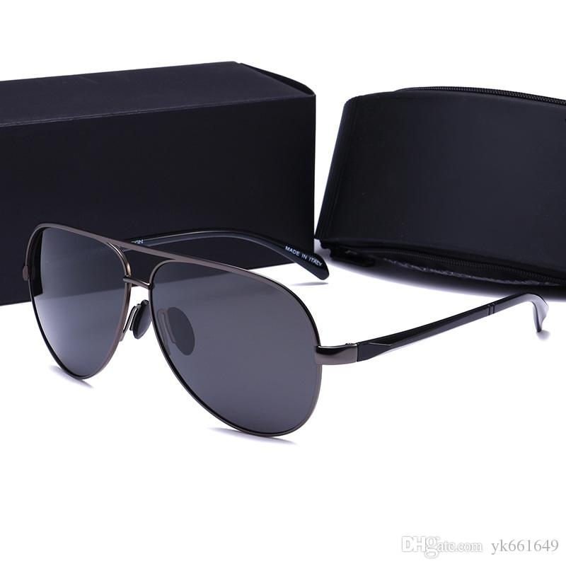145b859ea Compre 2017 De Alta Qualidade Óculos De Sol De Luxo Homens Mercedes  Logotipo Marca Polarizada De Ouro Oversized Sun Glasses Para Homens De  Condução Com ...