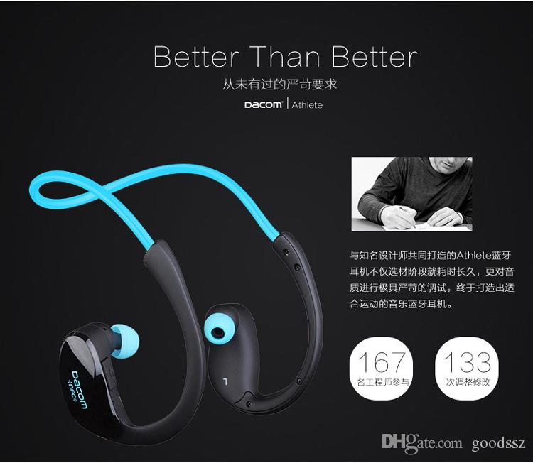 Dacom Athlete 스포츠 헤드셋 이어폰 무선 블루투스 4.1 Ear Hook 헤드폰 iPhone 용 MIC NFC로 땀을 흘리지 않는 Handfree Samsung
