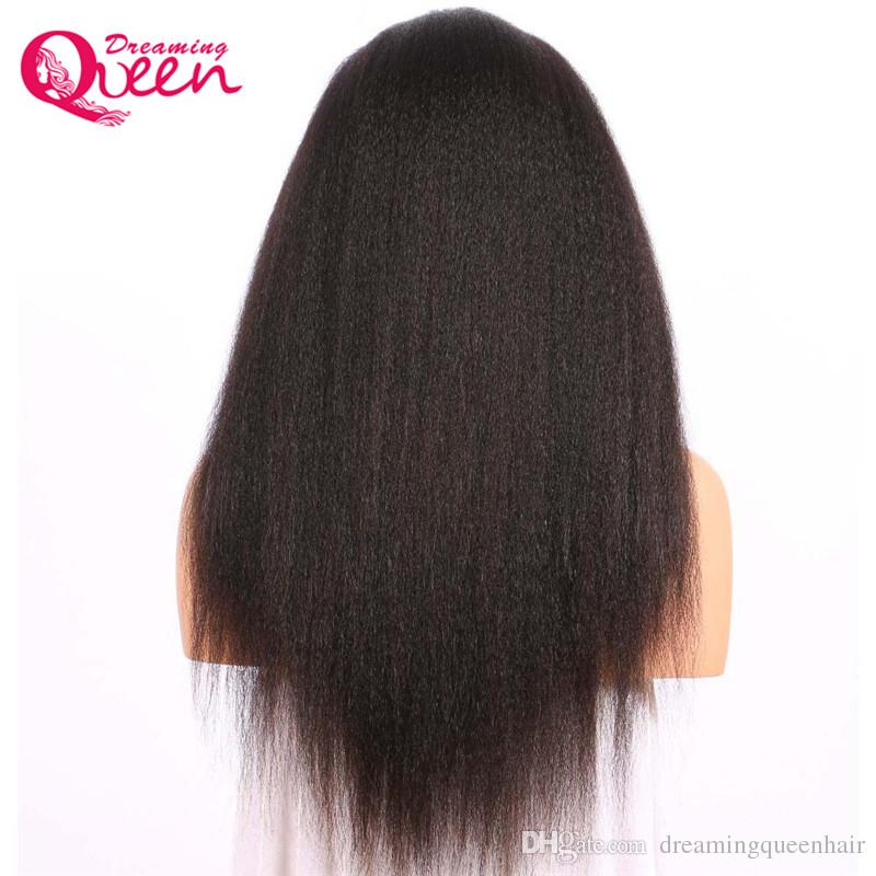 Brazilian Kinky Straight Wig Full Lace Human Hair Wigs for Black Women Pre Plucked with Baby Hair