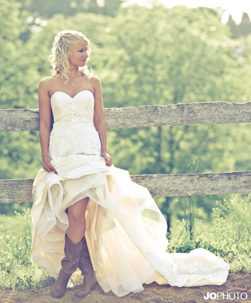 Vintage Chic Wedding Dresses: Discount Vintage Wedding Dresses Country Style Sweetheart