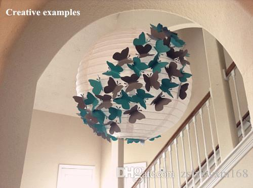 Butterfly three-dimensional handmade wall decoration stickers wall stickers wedding supplies into each package P4 mixed colors
