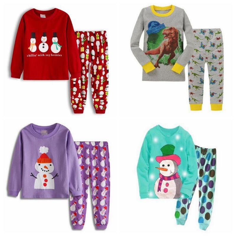 2-7 Years Old Infant Kids Baby Boys Dinosaur Pajamas Sleepwears Cartoon Tops Short Pants Summer Clothes Sets
