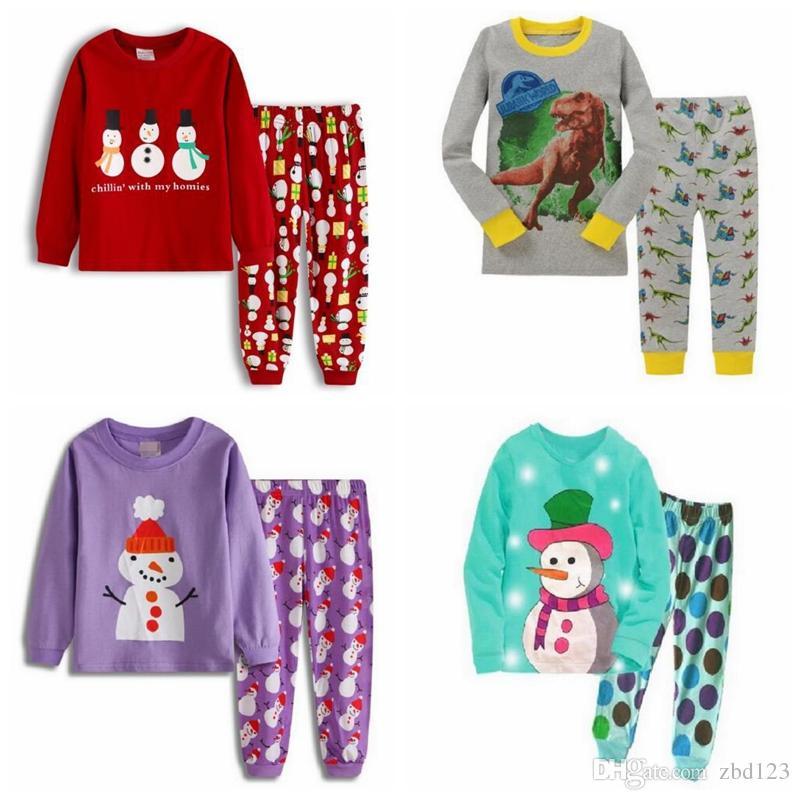 f420a6830e Compre Bebé Pijamas Niños Styling Ropa De Dormir Niños Pijamas De Dibujos  Animados Niñas Pijamas Conjuntos Niños Top + Pantalones Inicio Ropa Ropa De  Dormir ...