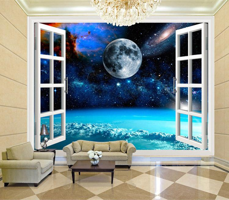 Charming galaxy wallpaper personalized custom 3d wall for 3d wallpaper for bedroom walls